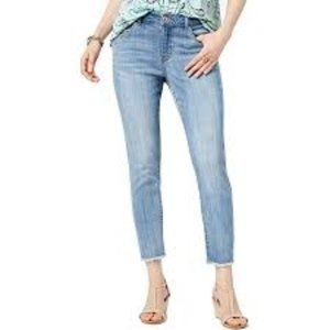 Style & Co Mid-Rise Frayed Ankle Jeans